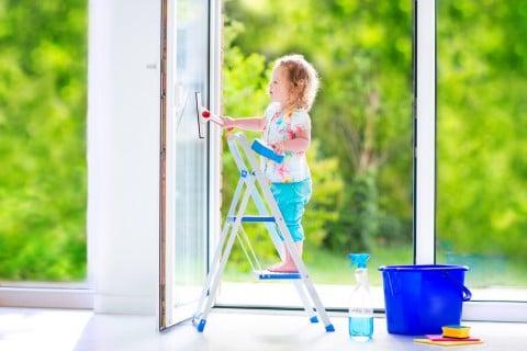 子供 お手伝い 窓