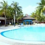 風景 プール 休暇 リゾート ホテル