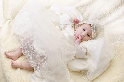 赤ちゃん 白 ドレス 天使 レース おしゃぶり