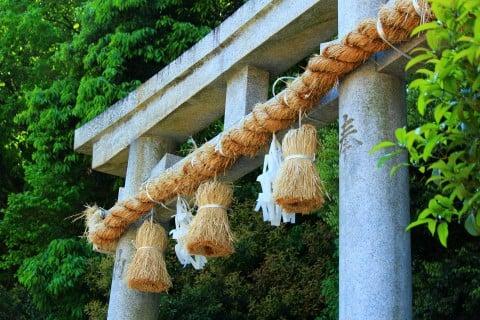 風景 神社 参拝 鳥居