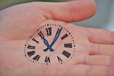 時間 時計 手のひら