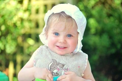 赤ちゃん9か月 笑顔 元気