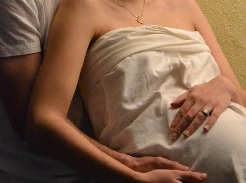 妊婦 夫婦 一緒