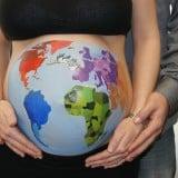 妊婦 妊娠 お腹 ペイント