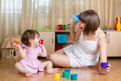 2歳 子供 ママ 遊び 積み木