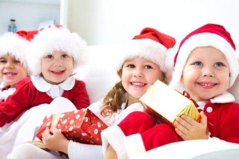 子供 クリスマス パーティ サンタ コスプレ