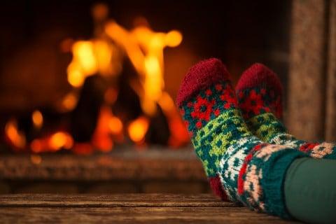 足 あたためる 暖炉 冷え対策