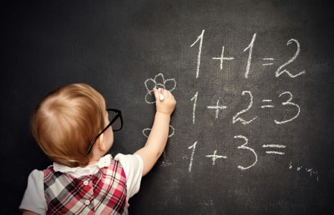 子供 計算 黒板 勉強