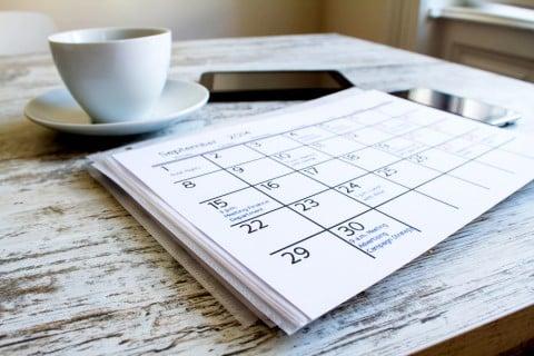 スケジュール カレンダー ノート