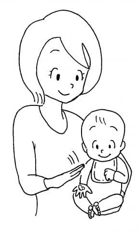 ママと赤ちゃん手ぽんぽん