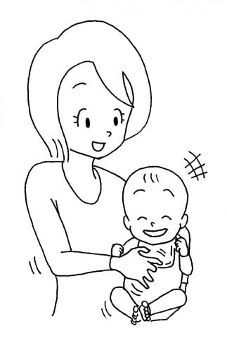 ママと赤ちゃんお腹