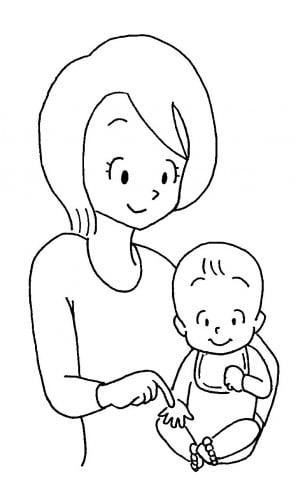 ママと赤ちゃん指こちょこちょ