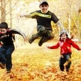 子供 遊ぶ 公園 秋