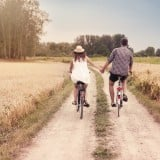 自転車 カップル
