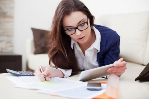 女性 計算 勉強 眼鏡 ノート