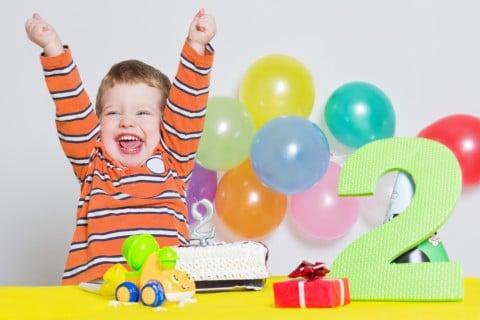 男の子 2才 誕生日