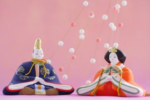 雛人形 親王飾り 桃