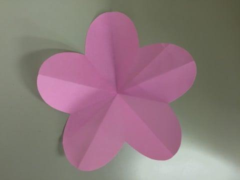 ひな祭り 折り紙 桃の花