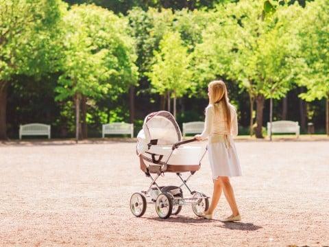 公園 ベビーカー
