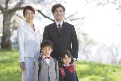 入学式 家族 写真