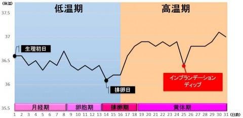 インプランテーションディップ グラフ