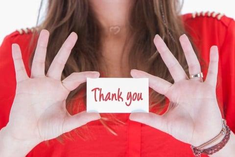 女性 お礼 ありがとう THANKYOU 感謝