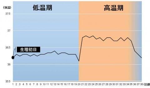 低温期が長い 基礎体温 グラフ