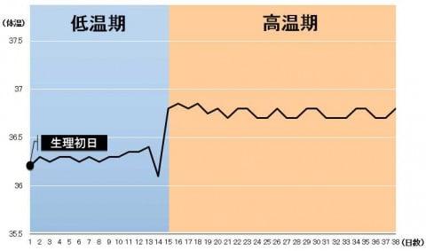 高温期 長い 基礎体温 グラフ