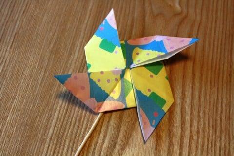 折り 折り紙 折り紙 風車 作り方 : 192abc.com