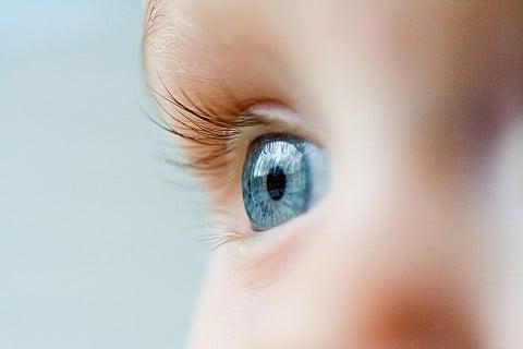 赤ちゃん まつげ 目 アップ 横顔 眼球