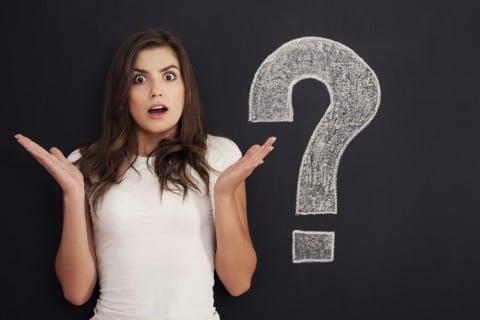 疑問 クエスチョン 女性 謎