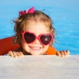 子ども 女の子 赤ちゃん 水着 プール 浮き輪