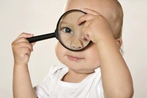 目 眼球 虫眼鏡 アップ