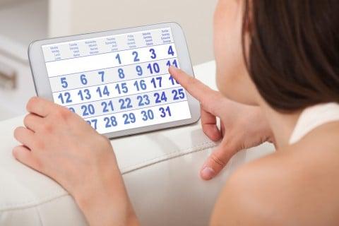 女性 数える 計算 日数 日にち カレンダー