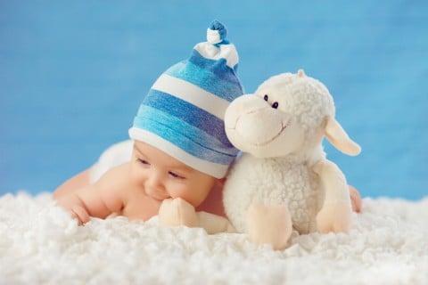 赤ちゃん 笑顔 ぬいぐるみ 布団カバー