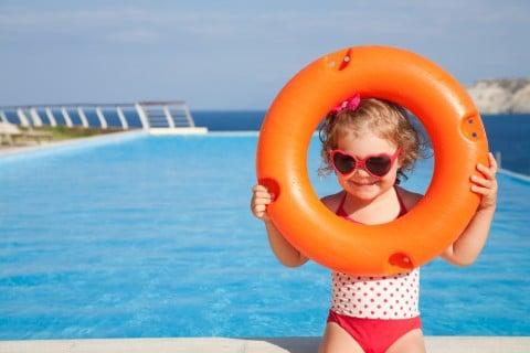 プール 子供 水着 浮き輪 サングラス
