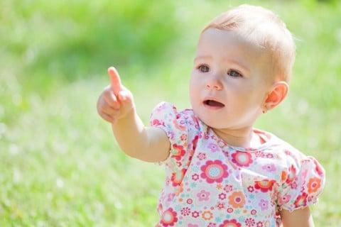 赤ちゃん 1歳 指指し