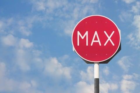 上限 マックス 限界 看板 ストップ 停止