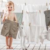 赤ちゃん 洗濯 白 服 ぬいぐるみ