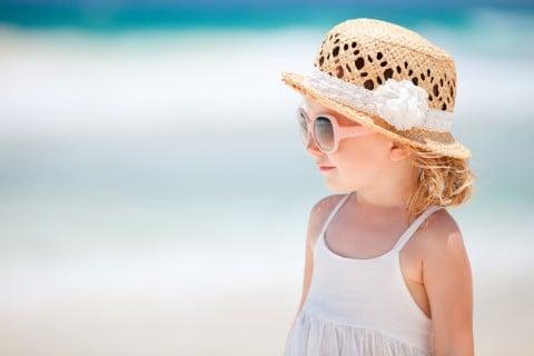 子供 夏 海 帽子