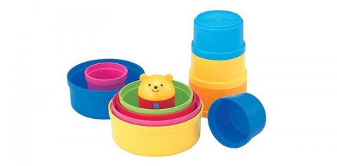 要出典 知育玩具 1歳 0歳 コンビ コップがさね