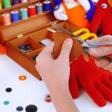 手作り おもちゃ はさみ フェルト 布