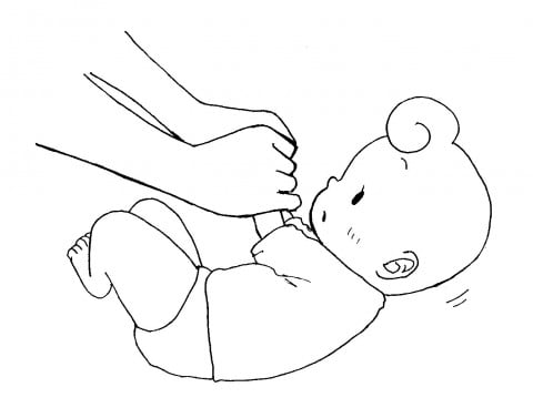 赤ちゃん イラスト 首すわり