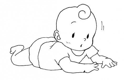 赤ちゃん イラスト 首すわり ハイハイ