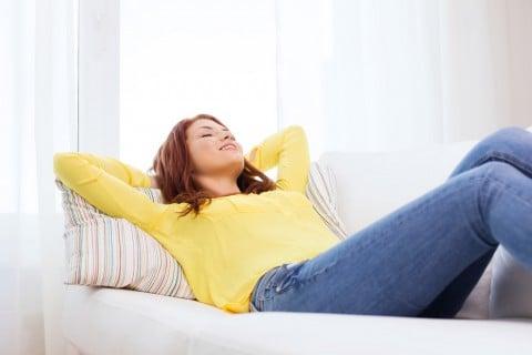 女性 リラックス 健康 休憩