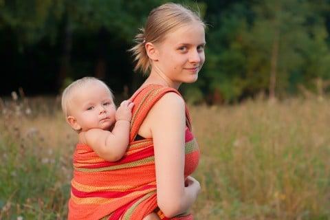 赤ちゃん ママ おんぶ 抱っこ紐 スリング