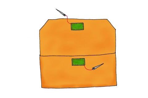 封筒型 おむつポーチ イラスト