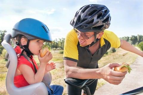 子供 自転車 チャイルドシート 子乗せ自転車 パパ 子供