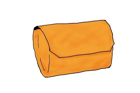 イラスト 封筒型 おむつポーチ