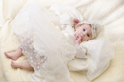 赤ちゃん 新生児 ベビードレス セレモニードレス 退院